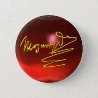 HOMAGE TO MOZART, red ruby Pinback Button