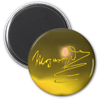 HOMAGE TO MOZART,yellow topaz Magnet