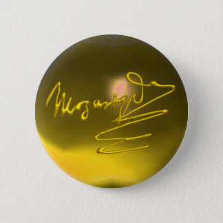 HOMAGE TO MOZART, yellow topaz Pinback Button