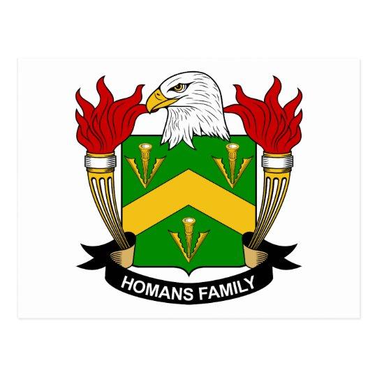 Homans Family Crest Postcard