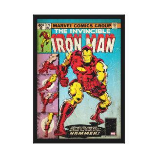 Hombre #126 cómico del hierro impresión en lienzo