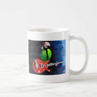 Hombre 1 de la guitarra taza