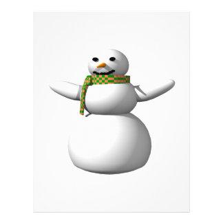 Hombre 1 de la nieve tarjeta publicitaria