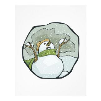 Hombre 2 de la nieve tarjetón