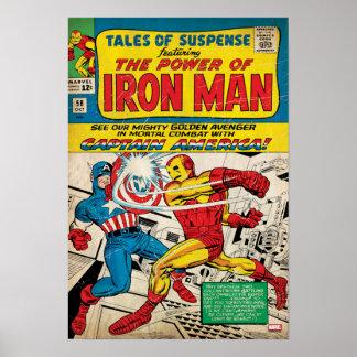Hombre #58 cómico del hierro póster