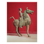 Hombre a caballo de Wu-wei, Kansu Posters