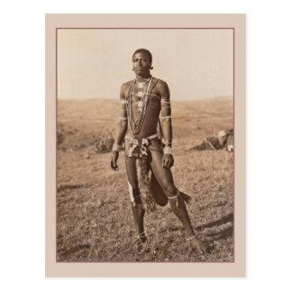 Hombre africano postales