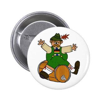 Hombre alemán en los botones del barrilete de cerv pin redondo de 2 pulgadas