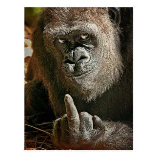 Hombre alto del gorila tarjetas postales