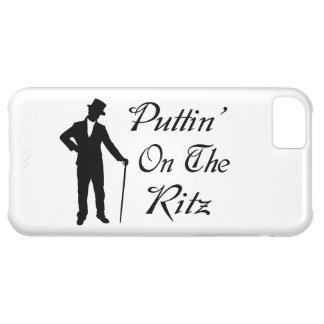 Hombre apuesto Puttin en el Ritz Funda Para iPhone 5C