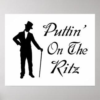 Hombre apuesto Puttin en el Ritz Póster