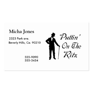 Hombre apuesto Puttin en el Ritz Plantilla De Tarjeta De Visita