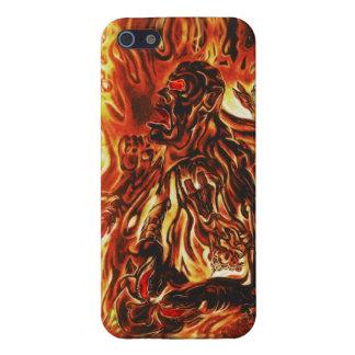 Hombre ardiente iPhone 5 carcasa