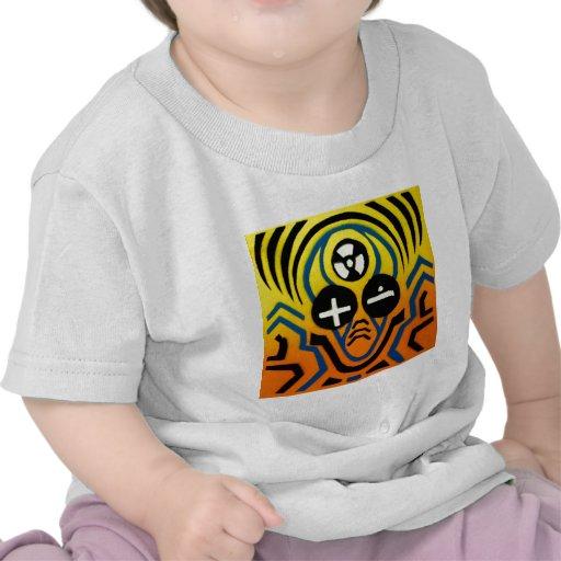 Hombre atómico de la onda acústica camisetas