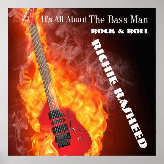 Hombre bajo - poster de la música póster