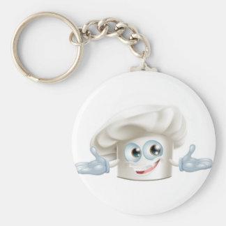 Hombre blanco feliz del dibujo animado del gorra d llavero personalizado