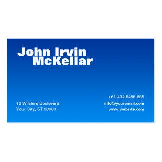 Hombre Blue Gradient Business Card
