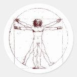 Hombre BRK de Vitruvian Etiqueta Redonda