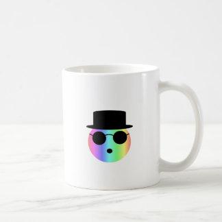 Hombre chocado del arco iris tazas de café
