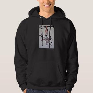 Hombre colgado pulóver con capucha
