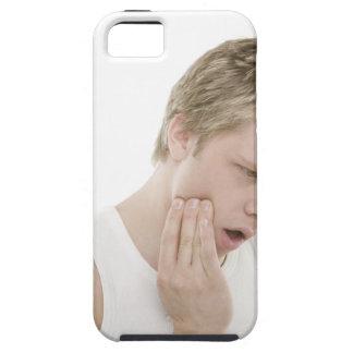 Hombre con dolor de muelas iPhone 5 cárcasas