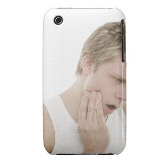 Hombre con dolor de muelas Case-Mate iPhone 3 fundas