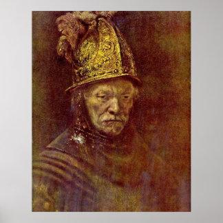 Hombre con el casco de oro de Salomon (de) Koninck Poster