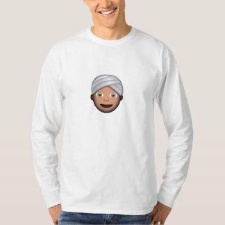 Hombre con el turbante Emoji Playeras