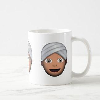 Hombre con el turbante Emoji Taza Clásica