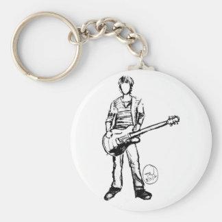 Hombre con la guitarra llavero redondo tipo pin