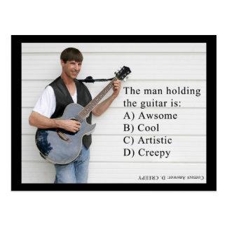 hombre con la guitarra tarjeta postal