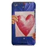 Hombre con la pintura del corazón Case-Mate iPod touch protectores