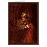 Hombre con los brazos (Alexander el grande) por Re Tarjeta