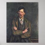 Hombre con los brazos cruzados, c.1899 póster