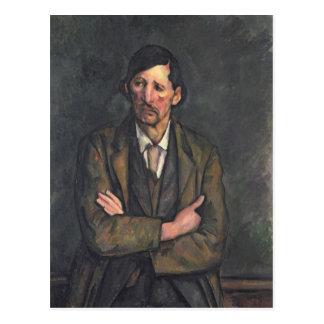 Hombre con los brazos cruzados c 1899 tarjetas postales