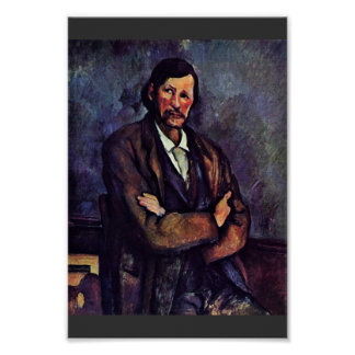 Hombre con los brazos doblados de Paul Cézanne (la Poster