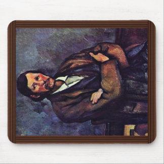 Hombre con los brazos doblados de Paul Cézanne (la Tapetes De Raton