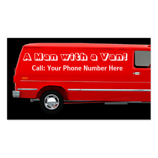 Hombre con un negocio de la furgoneta #2B/las Tarjetas De Visita