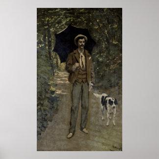 Hombre con un paraguas, c.1868-69 póster