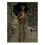 Hombre con un paraguas, c.1868-69 tarjetas postales