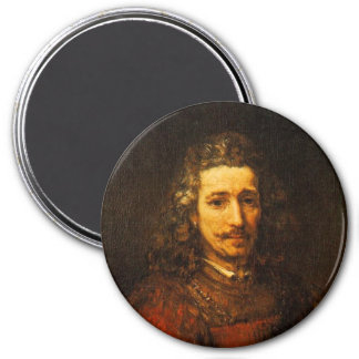 Hombre con una lupa imán redondo 7 cm