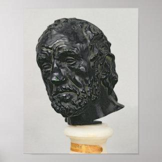 Hombre con una nariz quebrada, 1865 poster