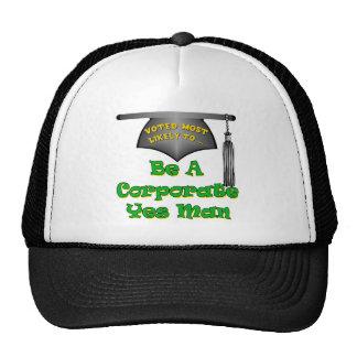 Hombre corporativo del sí gorra