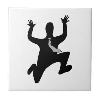 Hombre corriente asustado azulejo ceramica
