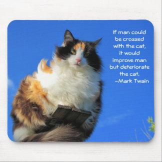 ¿Hombre cruzado con el gato - Twain Tapetes De Ratones