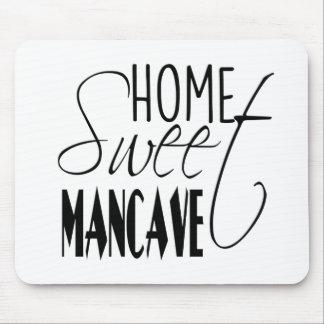 Hombre-cueva dulce casera - negro tapetes de raton