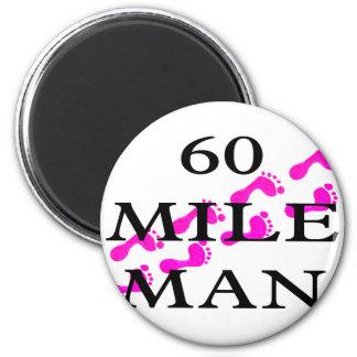 hombre de 60 millas 8 pies imán redondo 5 cm