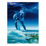 Hombre de agua - tarjeta postal