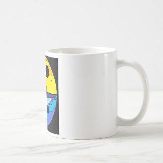 Hombre de Ak de la reflexión del agua Taza De Café