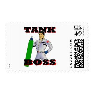 Hombre de Boss del tanque Estampillas
